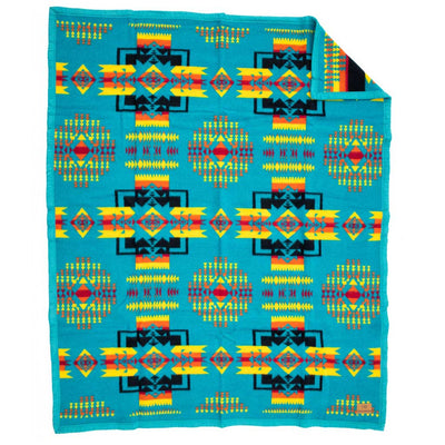 Boy Chief Turquoise Blanket