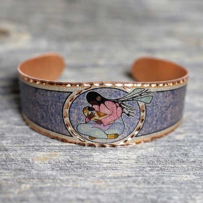 'Joyous Motherhood' Copper Bracelet - Cecil Youngfox