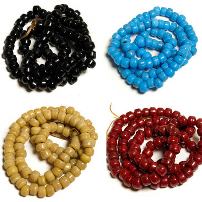 9mm Glass Crow Beads - Beaded Dreams  - 1