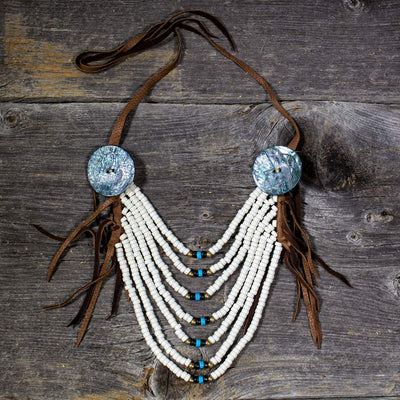 'Eternity' Crow Necklace - Beaded Dreams  - 1