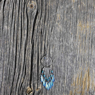 Aqua Dreamcatcher Necklace