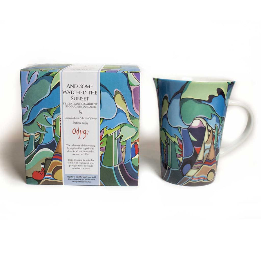 '...And Some Watched the Sunset' mug by Daphne Odjig