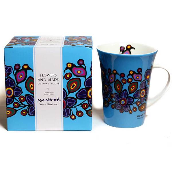 'Flowers & Birds' mug by Norval Morrisseau