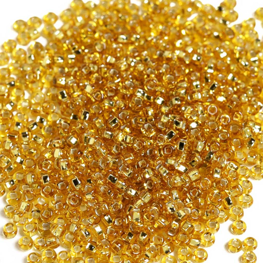 Gold Silverlined - Size 8/0 Seedbeads