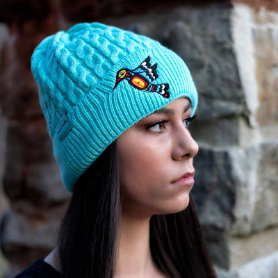 'Hummingbird' Knitted Toque by Francis Dick