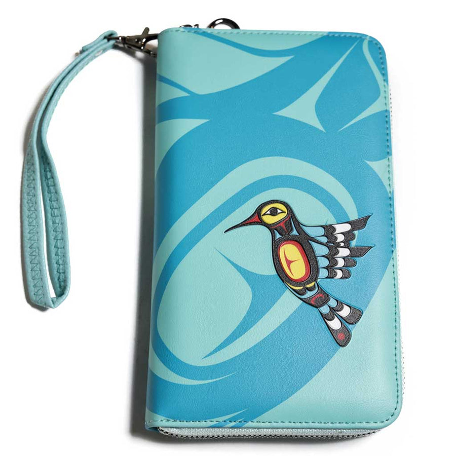 'Hummingbird' Travel Wallet by Francis Dick