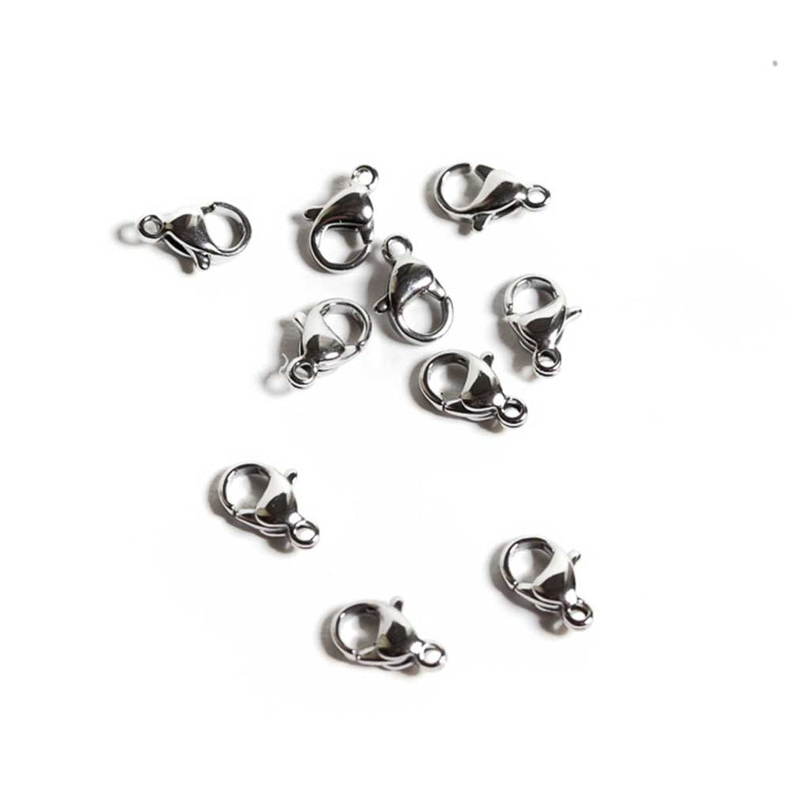 Stainless Steel Lobster Clasps - 10x6.5mm