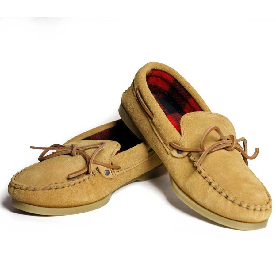 Men's Moccasin w/ Plaid Inside & Flex Sole