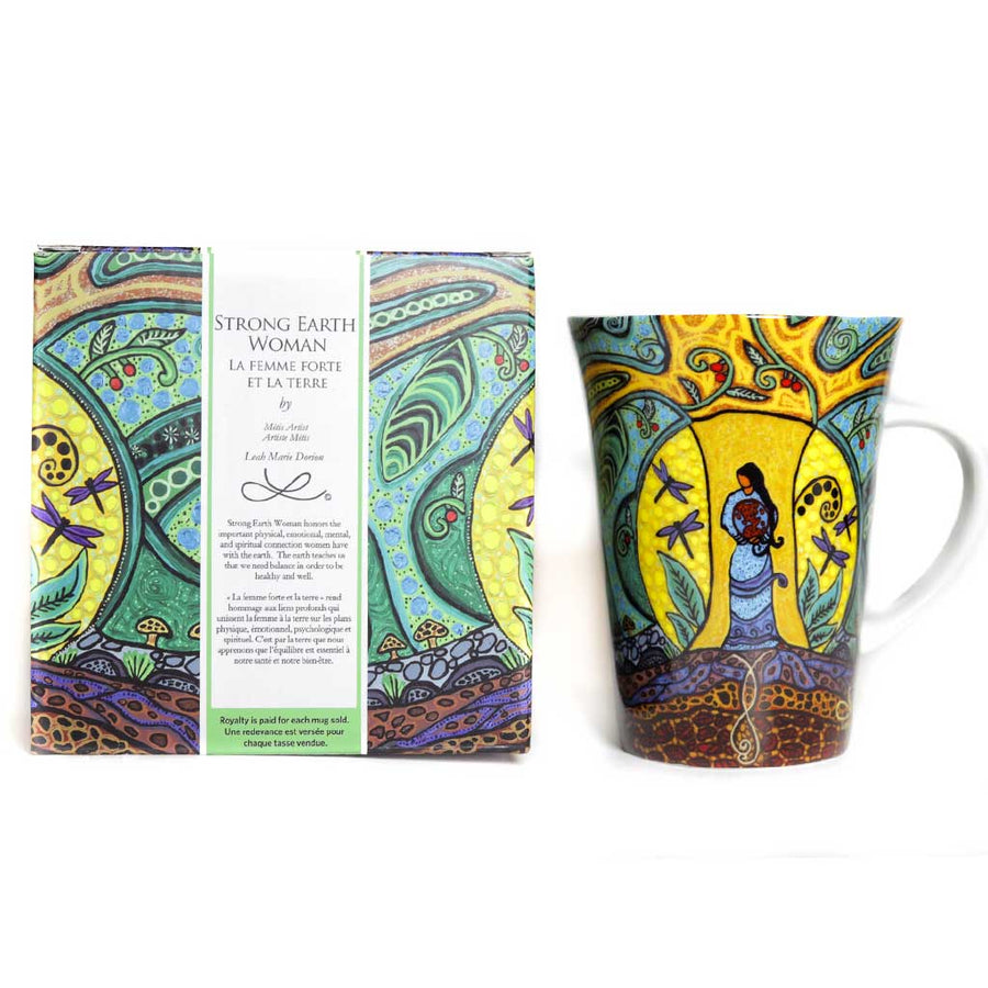 'Strong Earth Woman' mug by Leah Dorion
