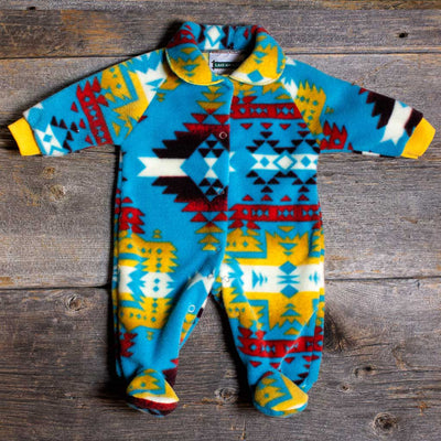 'Canyon' Turquoise Baby Romper