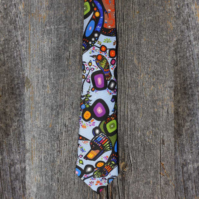 Slim Silk Tie - 'The Bear' by John Rombough