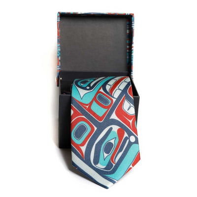 Slim Silk Tie - 'Bentwood Box' by James Johnson