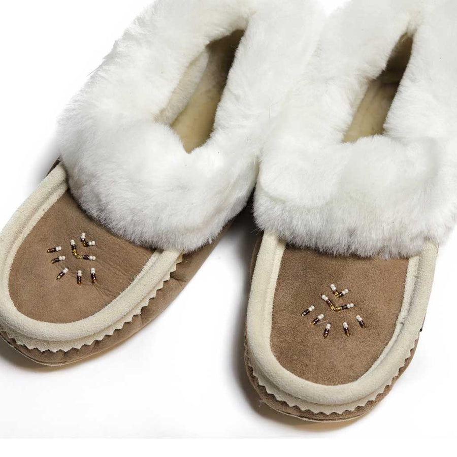 Ladies Sheepskin Moccasin w/ Padded Sole