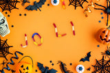 A candy themed Halloween background \ 100845