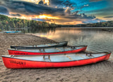 Canoes By the Lake / 100709