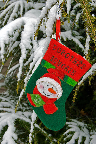 Christmas Stocking On Snowy Tree / 100623