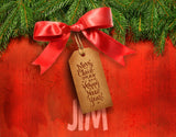 Christmas Tag On Pine Branches / 100488