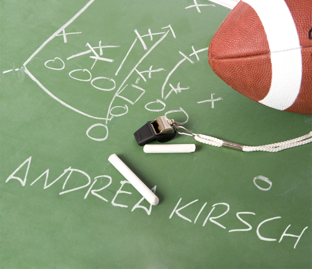 Football play diagram on chalkboard 100417 xmpie marketplace football play diagram on chalkboard 100417 examples with additional names pooptronica Images
