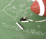 Football Play Diagram On Chalkboard / 100417