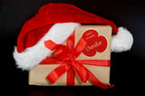 Gift Box Wearing Santa Hat / 100491