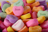 Pile Of Colorful Heart Candies Closeup / 100531