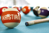 Pool Ball Closeup On a Pool Table / 100459
