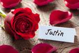 Rose and Place Card / 100558