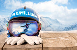 Ski Helmet and Gloves / 100797