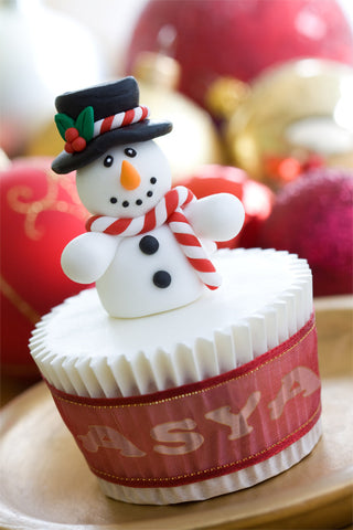 Snowman On Cup Cake / 100636
