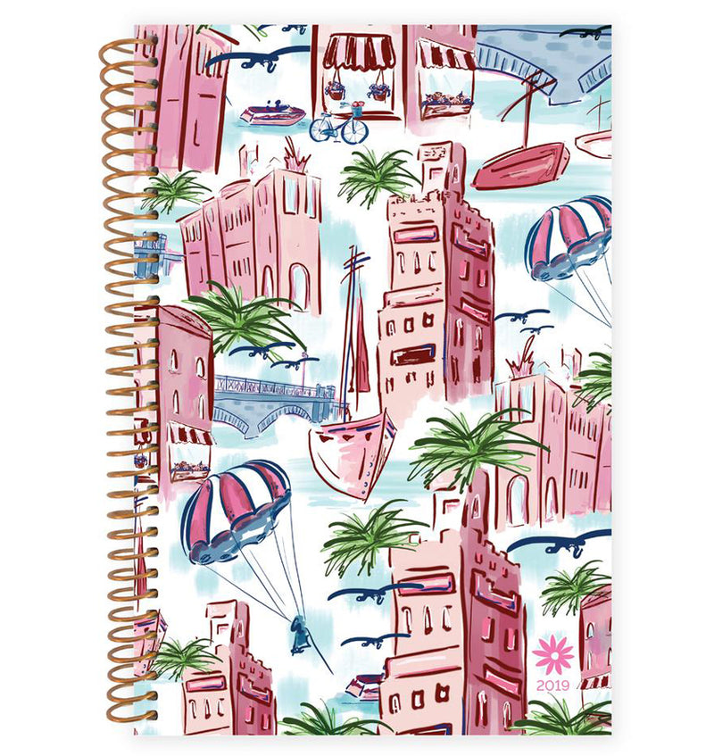 Bloom's Wanderlust 2019 Soft Cover Daily Planner Front Cover Design at Craftforher