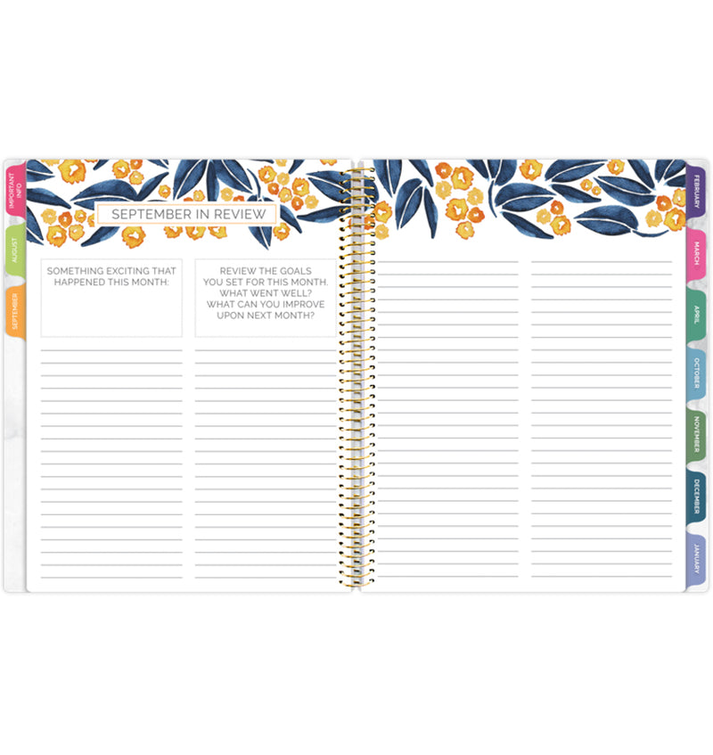 Bloom Marble Teacher Planner Undated Monthly Review Pages