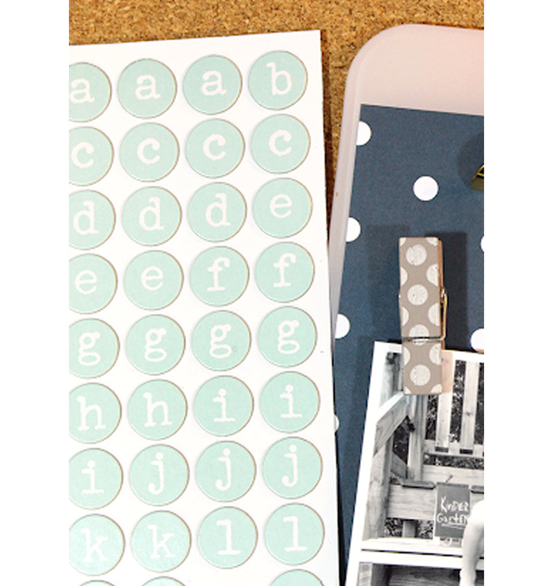 Daydreamer Yoyo Aqua Printed Chipboard Thickers