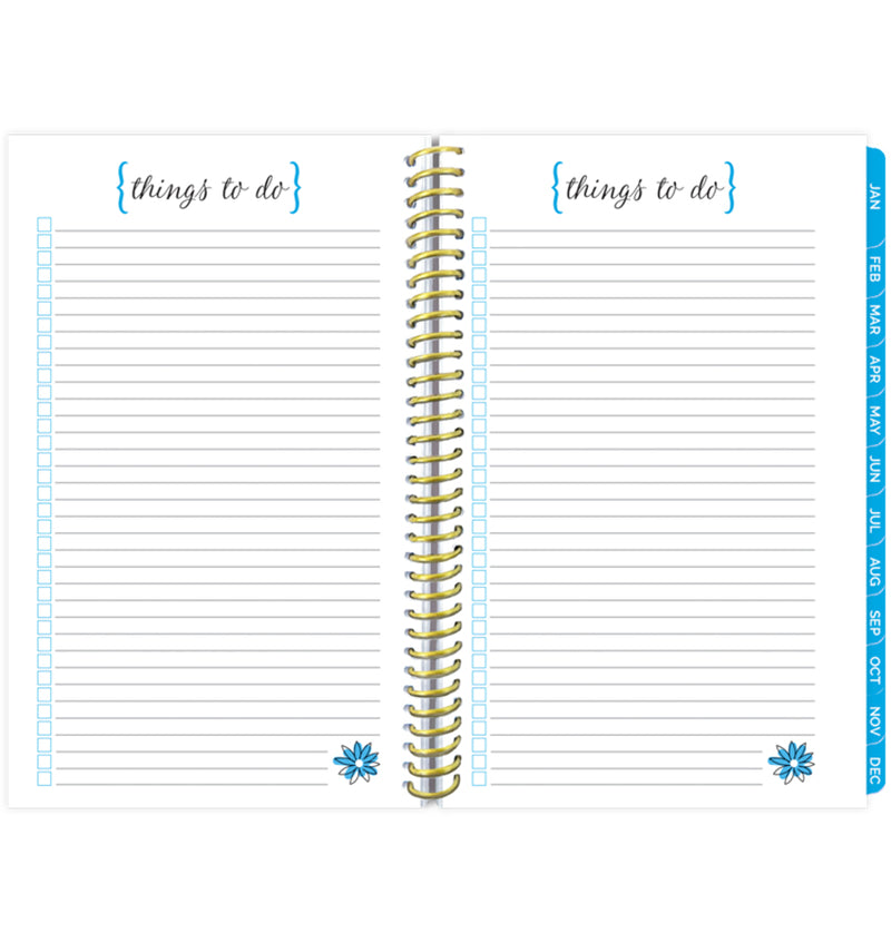 Bloom Make It Happen Daily Softcover Planner Undated Things To Do Pages