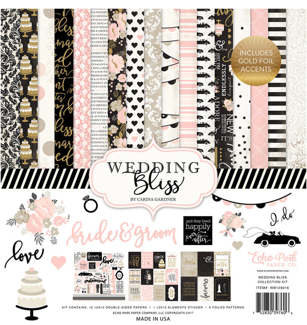 Wedding Bliss Collection Kit with Gold Foil Accents
