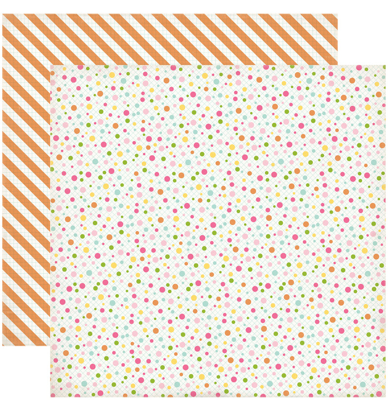 "Echo Park Birthday Wishes Birthday Dots Cupcakes Cardstock Paper 12"" x 12"""