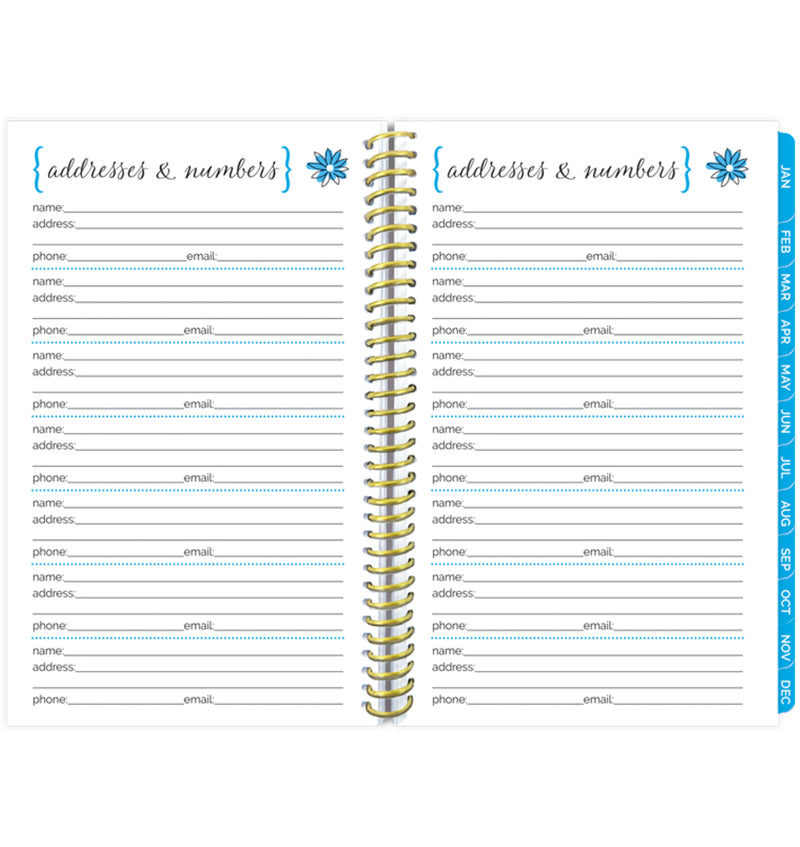 Bloom Make It Happen Daily Softcover Planner Undated Important Addresses and Numbers Pages