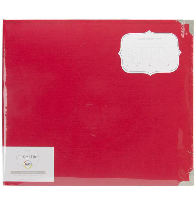 "Project Life 12"" x 12"" Cherry Cloth D-Ring Album in Packaging"