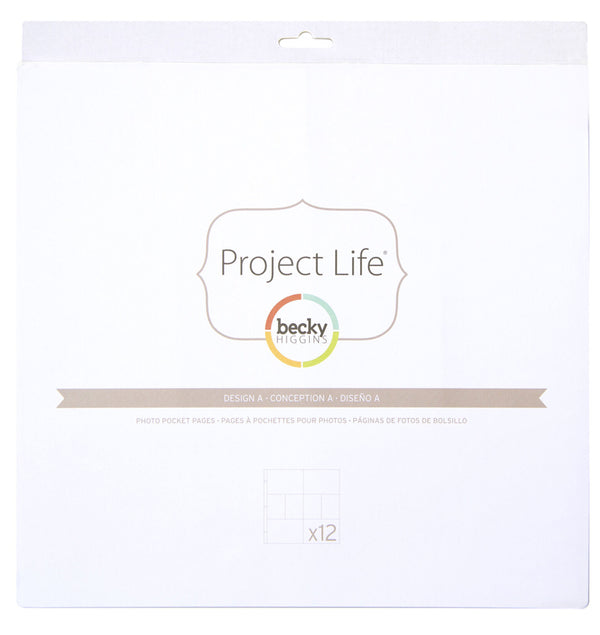 12 x 12 Design A Photo Pocket Protector Pages (12pcs) Packaging
