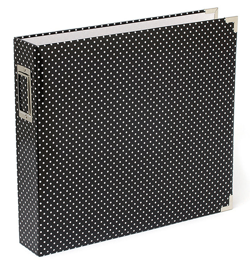 Project Life 12 x 12 Glossy Midnight Dots D-Ring Binder Album