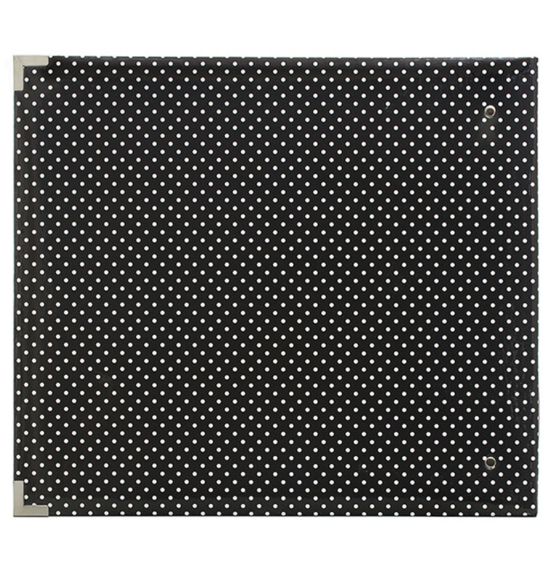Project Life 12 x 12 Glossy Midnight Dots D-Ring Binder Album Back