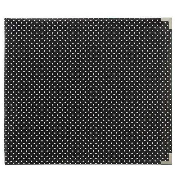 Project Life 12 x 12 Glossy Midnight Dots D-Ring Binder Album Front