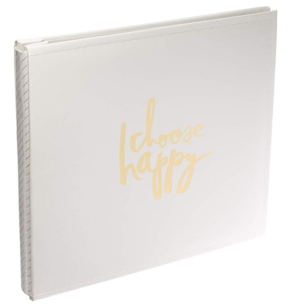 12 x 12 Storyline Cream Choose Happy Album Kit Gold Words
