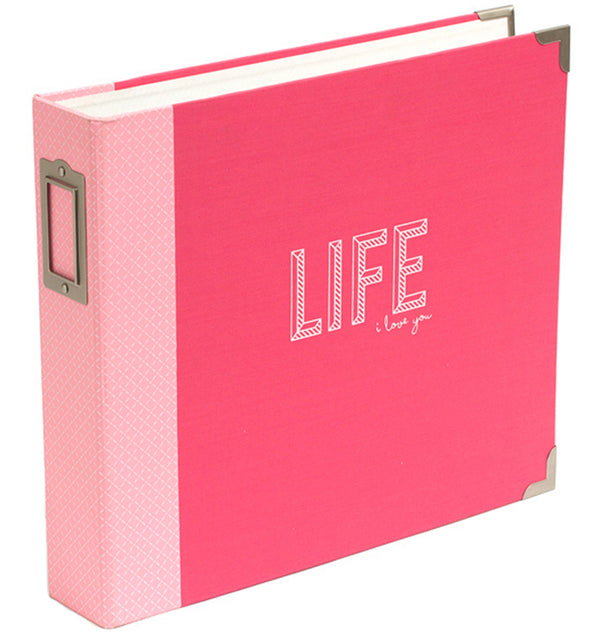 "Project Life 12"" x 12"" Coral D-Ring Binder Album"