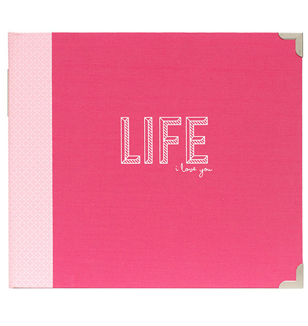 "Project Life 12"" x 12"" Coral D-Ring Binder Album Front"