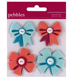 Pink and Blue Bows Felt