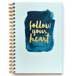 "Follow Your Heart Hardcover Journal (7.5""x10"")"