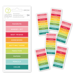 Phrases & Subjects Label Sticker 54pcs