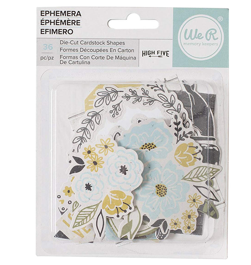 Ephemera Die-Cut Cardstock Shapes 36pcs