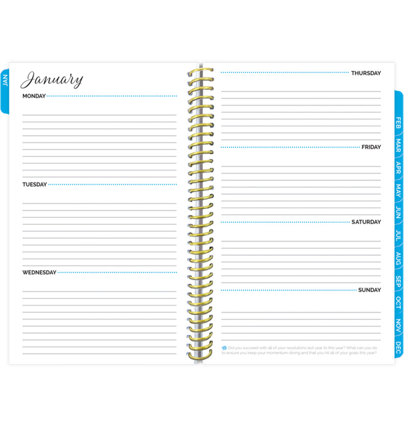 Bloom Make It Happen Daily Softcover Planner Undated Weekly View Pages