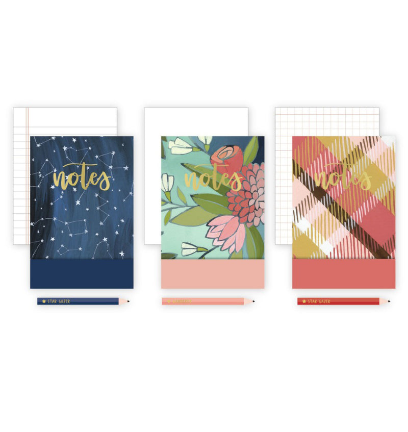 "Notepad and Pencil 3pcs Pack (5.5""x3.75"")"